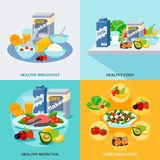 Healthy Food Flat Set stock illustration