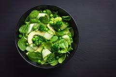 Healthy food. Fresh green salad. Stock Image