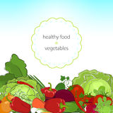 Healthy food, fresh raw vegetables Royalty Free Stock Image