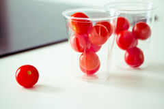 Healthy food: fresh red tomatoes Stock Image
