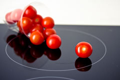 Healthy food: fresh red tomatoes Royalty Free Stock Image