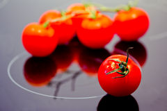 Healthy food: fresh red tomatoes Stock Photo