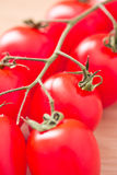Healthy food: fresh red tomatoes Royalty Free Stock Photography