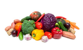 Healthy food: fresh ripe vegetables close-up. Royalty Free Stock Photos
