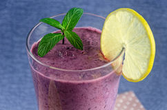 Healthy food, fresh smoothies from currants and blueberries with lemon. Healthy food, fresh smoothies from currants and bluhealthy food, fresh smoothies from Stock Photo