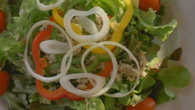 A Healthy food fresh tuna salad. Healthy food fresh tuna salad stock footage