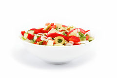 Healthy food. Fresh vegetable salad on a white. Healthy food. Fresh vegetable salad on a white background Stock Photography