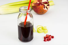Healthy food-freshly squeezed juices from vegetables and fruits Stock Photography