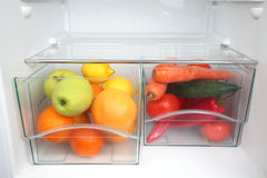 Healthy Food in Fridge royalty free stock photo