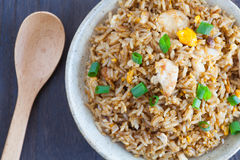 Healthy food fried rice chicken with egg Stock Photo