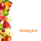 Healthy food. fruits. banner from different fruits Stock Images