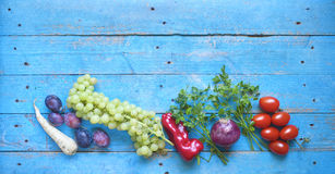 Healthy food, fruits, vegetables, herbs, Royalty Free Stock Photo