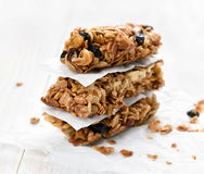 Healthy food granola bars Stock Images