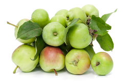 Healthy food is a green apples Royalty Free Stock Photography