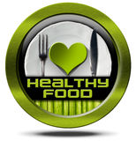 Healthy Food - Green Icon Royalty Free Stock Images