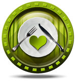 Healthy Food - Green Icon Stock Images