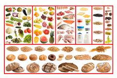 Healthy food guide Royalty Free Stock Photography