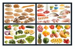 Healthy food guide Stock Images