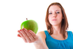Healthy food on hand Stock Images