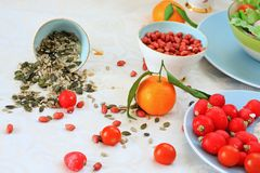 Healthy food for healthy diet on the table Stock Photos