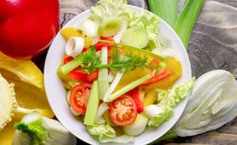 Healthy food - healthy meal ( fresh vegetable salad) Stock Photo