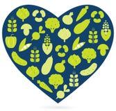 Healthy food heart Stock Photography