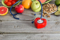 Healthy food for heart. Healthy food for the heart royalty free stock photography