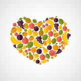 Healthy food heart composition Royalty Free Stock Photos
