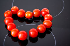 Healthy food: heart of fresh red tomatoes Royalty Free Stock Image