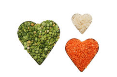 Healthy food hearts Stock Photo