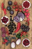 Healthy Food High in Anthocyanins Royalty Free Stock Photos
