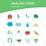 Healthy food icon set Stock Photography
