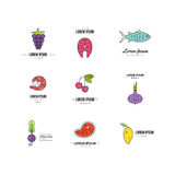 Healthy food icons Royalty Free Stock Images