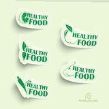 Healthy food icons Stock Photo