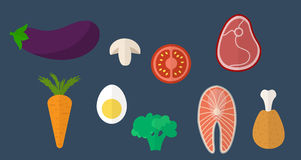 Healthy food icons. Healthy eating  concept. Royalty Free Stock Photography