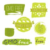 Healthy food icons, labels. Organic tags. Stock Images