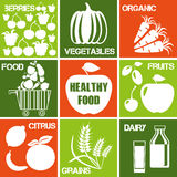 Healthy food icons Royalty Free Stock Image