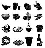 Healthy food icons set Royalty Free Stock Photography