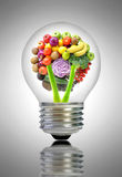 Healthy food ideas concept Stock Image