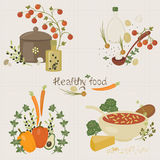 Healthy food illustration Royalty Free Stock Image
