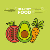 Healthy food illustration Stock Image