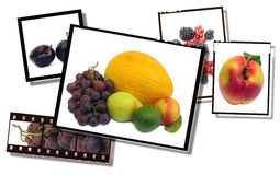 healthy food images, film strip  Stock Photography