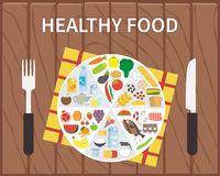 Healthy food. Infographic lifestyle concept with Royalty Free Stock Photo