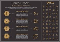 Healthy food infographic template, elements, icons Royalty Free Stock Images