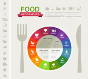 Healthy Food Infographic Template. Royalty Free Stock Images