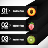 Healthy food infographics Stock Photo