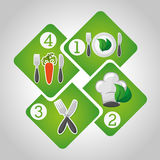 Healthy food infographics Stock Images