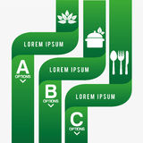 Healthy food infographics Royalty Free Stock Photos