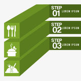 Healthy food infographics Royalty Free Stock Photography