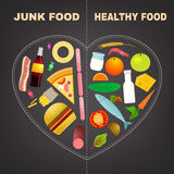 Healthy food infographics Stock Photography